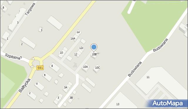 Kętrzyn, Bałtycka, 10B, mapa Kętrzyn