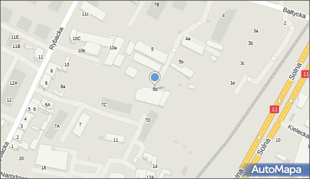 Kołobrzeg, Bałtycka, 5d, mapa Kołobrzegu