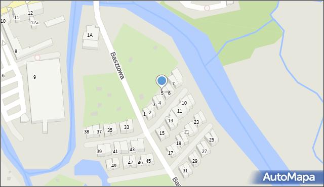 Kołobrzeg, Basztowa, 5, mapa Kołobrzegu