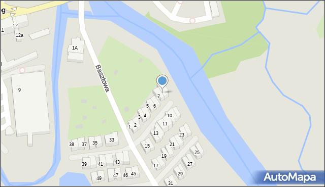 Kołobrzeg, Basztowa, 8, mapa Kołobrzegu