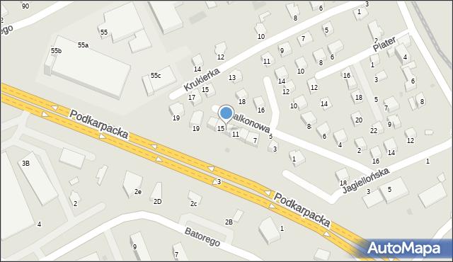 Krosno, Balkonowa, 13, mapa Krosna