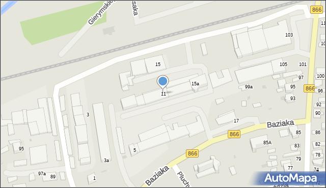 Lubaczów, Baziaka Eugeniusza, abp., 11, mapa Lubaczów