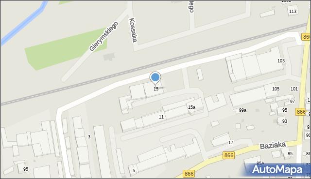 Lubaczów, Baziaka Eugeniusza, abp., 15, mapa Lubaczów