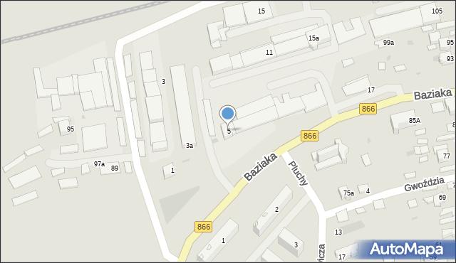 Lubaczów, Baziaka Eugeniusza, abp., 5, mapa Lubaczów