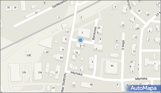 Luzino, Bankowa, 2, mapa Luzino