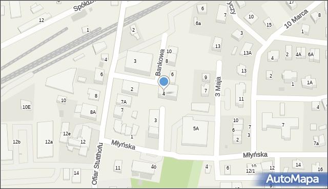 Luzino, Bankowa, 4, mapa Luzino