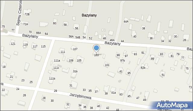 Pokrówka, Bazylany, 103, mapa Pokrówka