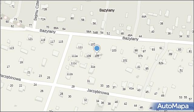 Pokrówka, Bazylany, 105, mapa Pokrówka