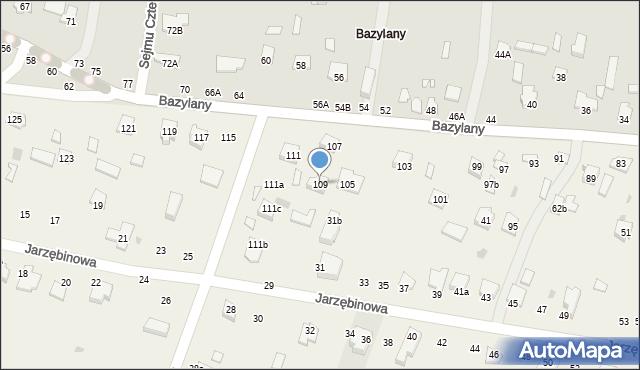Pokrówka, Bazylany, 109, mapa Pokrówka