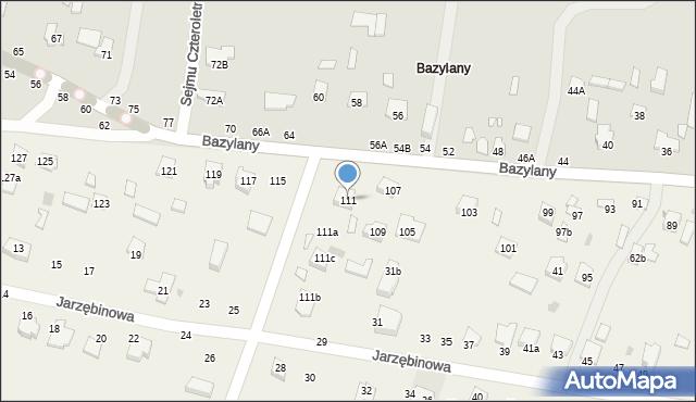 Pokrówka, Bazylany, 111, mapa Pokrówka