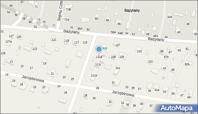 Pokrówka, Bazylany, 111a, mapa Pokrówka