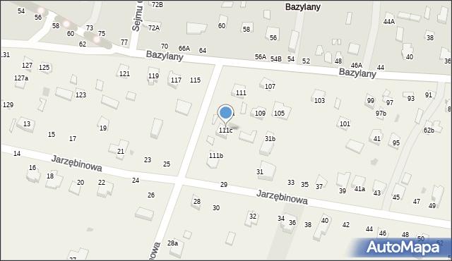 Pokrówka, Bazylany, 111c, mapa Pokrówka