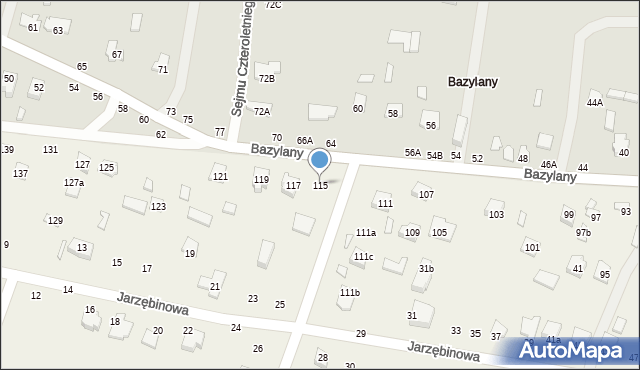 Pokrówka, Bazylany, 115, mapa Pokrówka