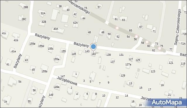 Pokrówka, Bazylany, 141, mapa Pokrówka