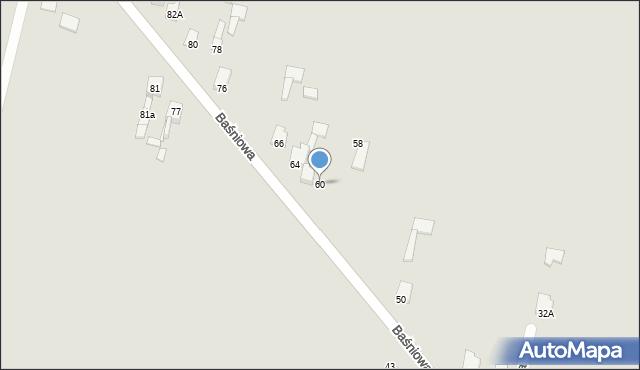 Poręba, Baśniowa, 60, mapa Poręba