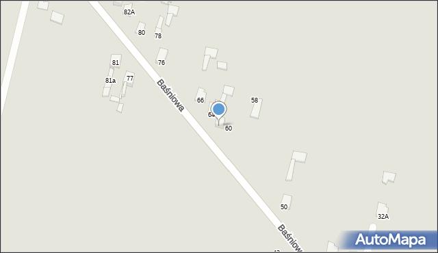 Poręba, Baśniowa, 62, mapa Poręba