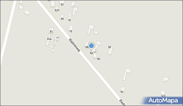 Poręba, Baśniowa, 64, mapa Poręba