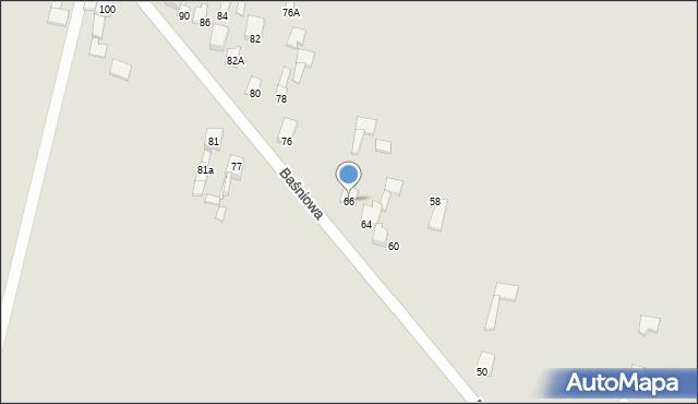 Poręba, Baśniowa, 66, mapa Poręba