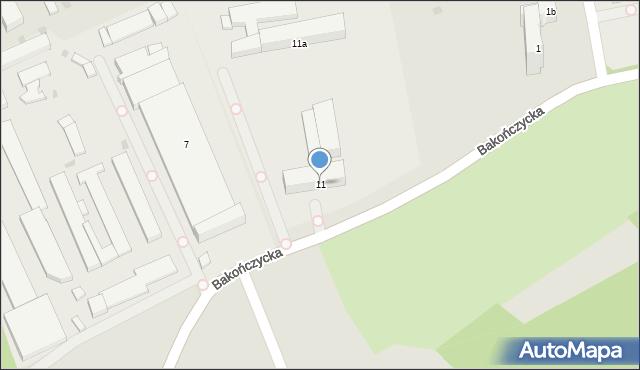 Przemyśl, Bakończycka, 11, mapa Przemyśla