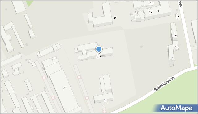 Przemyśl, Bakończycka, 11a, mapa Przemyśla