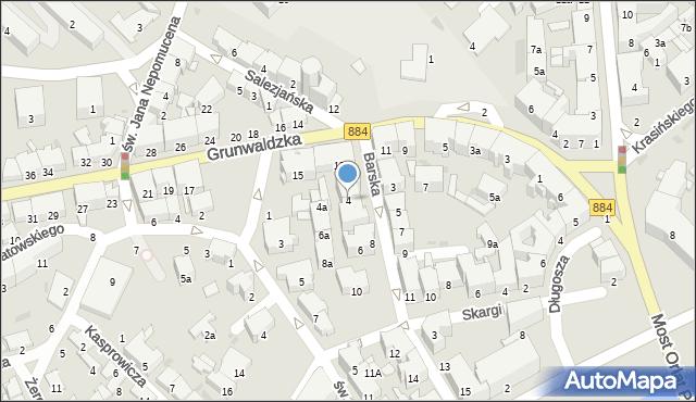 Przemyśl, Barska, 4, mapa Przemyśla