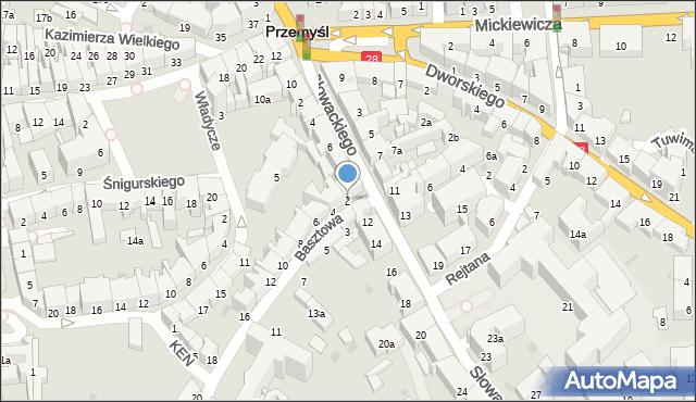 Przemyśl, Basztowa, 2, mapa Przemyśla