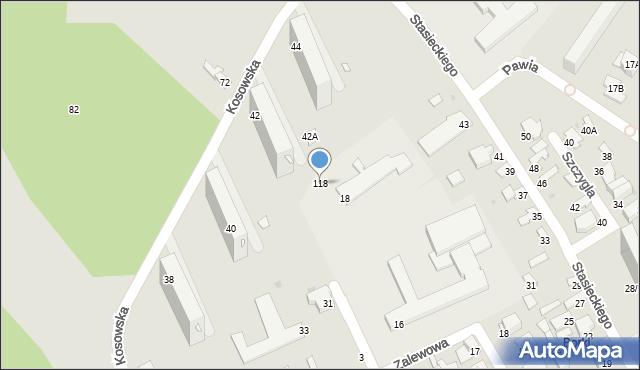 Radom, Batalionów Chłopskich, 118, mapa Radomia