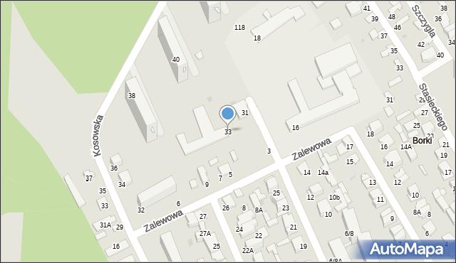 Radom, Batalionów Chłopskich, 33, mapa Radomia