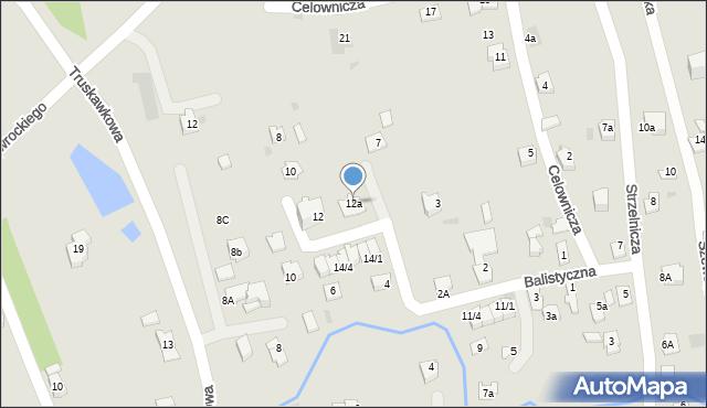 Rzeszów, Balistyczna, 12a, mapa Rzeszów