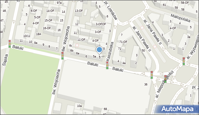 Szczecin, Bałuki Edmunda, 5, mapa Szczecina