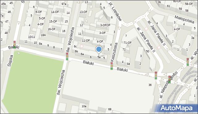 Szczecin, Bałuki Edmunda, 5a, mapa Szczecina