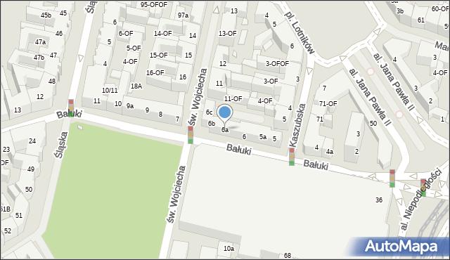 Szczecin, Bałuki Edmunda, 6a, mapa Szczecina