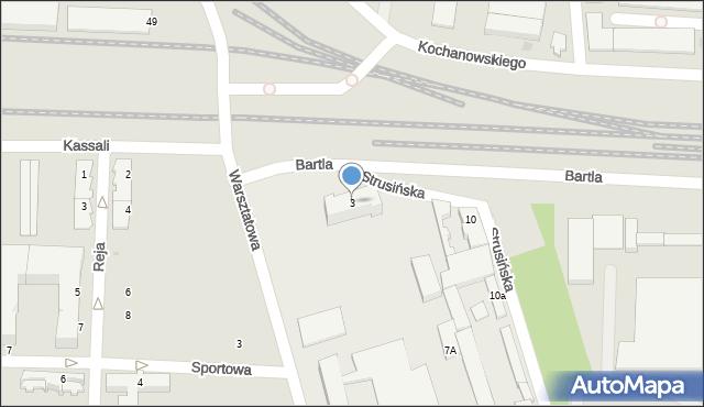 Tarnów, Bartla Kazimierza, 3, mapa Tarnów