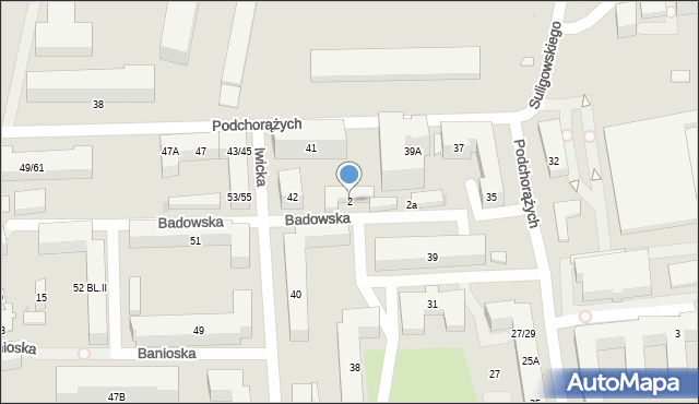 Warszawa, Badowska, 2, mapa Warszawy