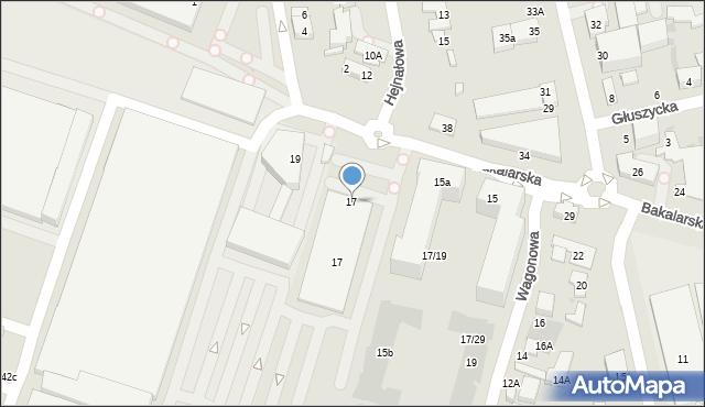 Warszawa, Bakalarska, 17, mapa Warszawy