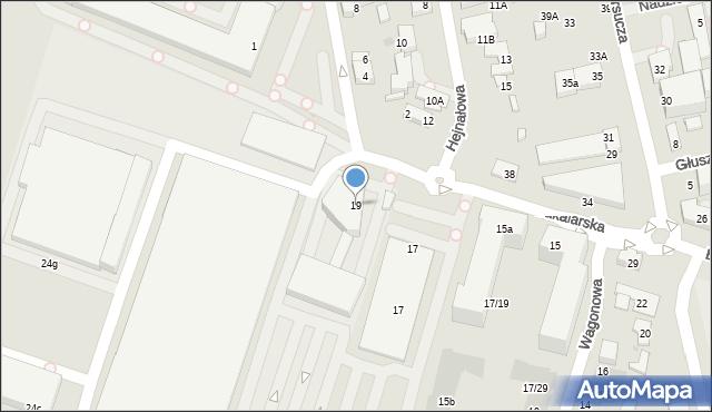 Warszawa, Bakalarska, 19, mapa Warszawy