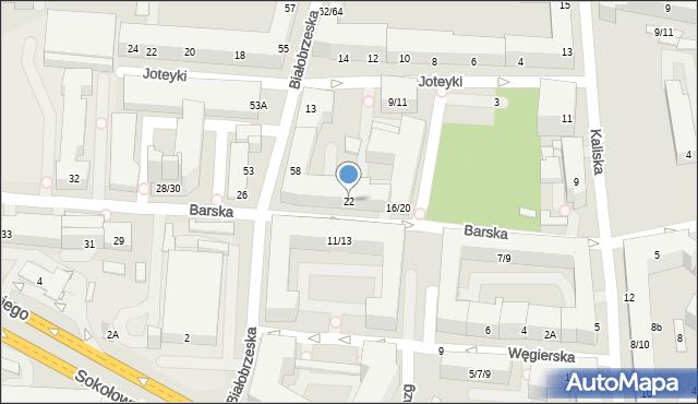 Warszawa, Barska, 22, mapa Warszawy