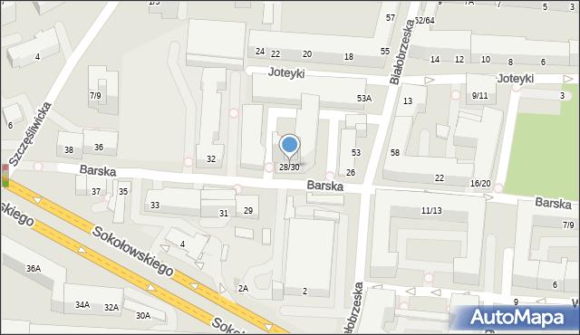 Warszawa, Barska, 28/30, mapa Warszawy