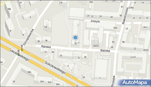 Warszawa, Barska, 32, mapa Warszawy