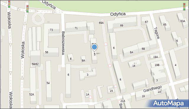 Warszawa, Bachmacka, 5, mapa Warszawy
