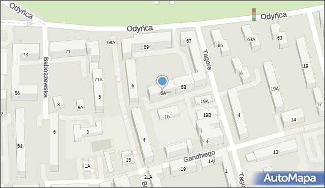 Warszawa, Bachmacka, 6A, mapa Warszawy