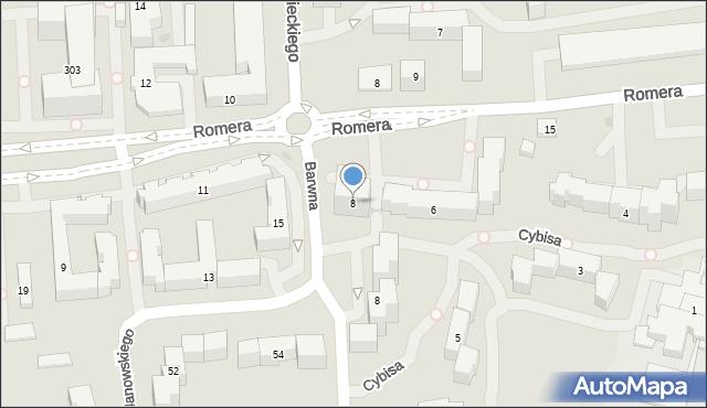 Warszawa, Barwna, 8, mapa Warszawy
