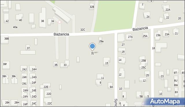Warszawa, Bażancia, 31, mapa Warszawy
