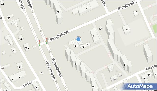 Warszawa, Bazyliańska, 4E, mapa Warszawy
