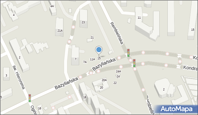 Warszawa, Bazyliańska, 7C, mapa Warszawy