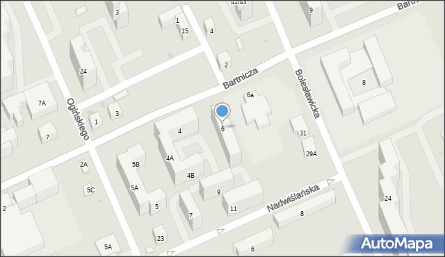 Warszawa, Bartnicza, 6, mapa Warszawy