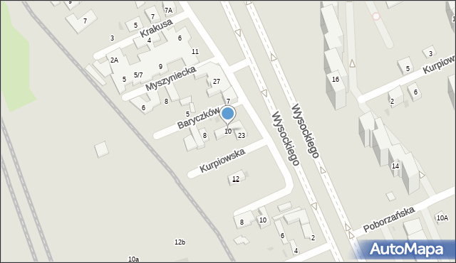 Warszawa, Baryczków, 10, mapa Warszawy
