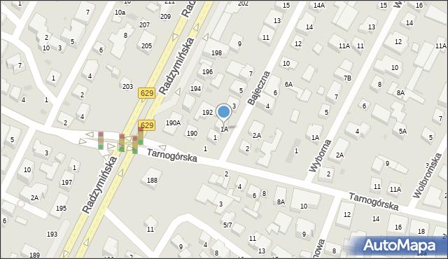 Warszawa, Bajeczna, 1A, mapa Warszawy