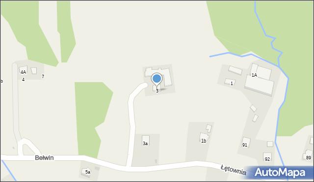 Bełwin, Bełwin, 3, mapa Bełwin