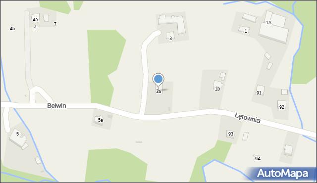 Bełwin, Bełwin, 3a, mapa Bełwin